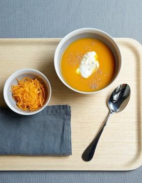 Soupe de carottes et mimolette pour 4 personnes