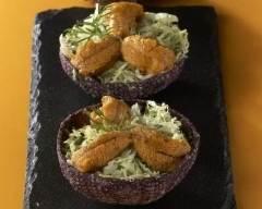 Recette salade de chou chinois aux oursins