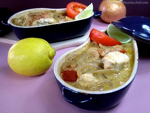 Cocotte de lotte au curry et lait de coco  notre recette avec photos ...
