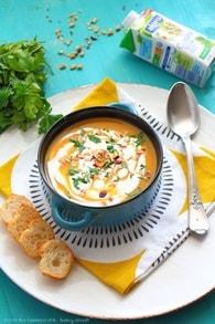 Recette de soupe de potiron, pommes de terre, noisettes et pignons ...