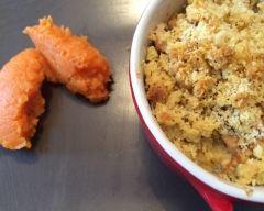 Recette crumble saumon courgette