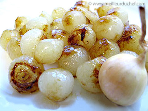 Glacer à brun des petits oignons  recette de cuisine avec photos ...