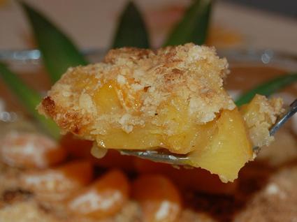 Recette de crumble à l'ananas et clémentines