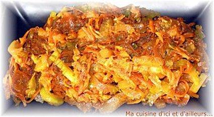 Recette de wok de courgettes, carottes et céleri