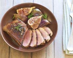 Recette magret de canard aux figues, sauce au vin blanc