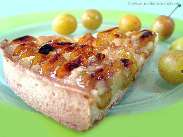 Tarte aux mirabelles  fiche recette avec photos  meilleurduchef.com