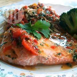 Recette filet de saumon aux poivrons – toutes les recettes allrecipes