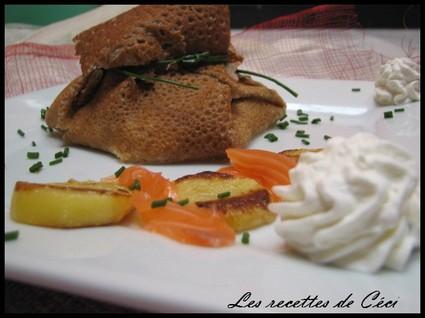 Recette aumônière au saumon fumé et sa chantilly citronnée