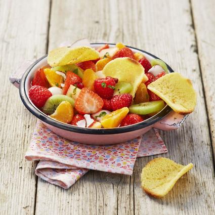 Recette de salade de fruits et tuiles de quatre-quarts