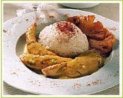 Recette curry de volaille au lait de coco
