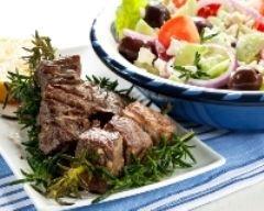 Recette brochettes d'agneau à la grecque