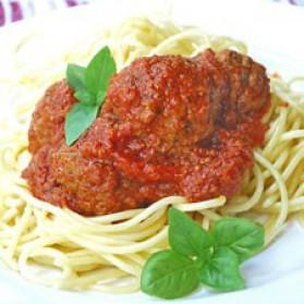 Spaghetti aux boulettes de veau pour 4 personnes