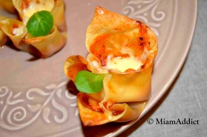 Recette de mini lasagnes apéritives