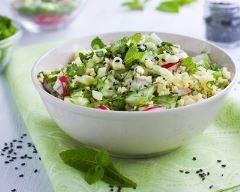 Recette salade de millet aux crudités à la menthe