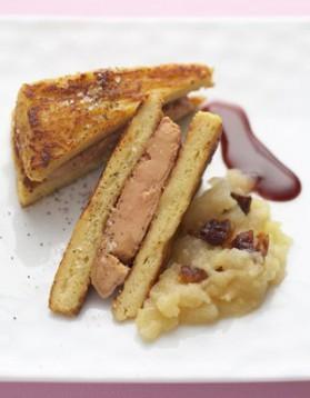 Pain perdu au foie gras poêlé pour 6 personnes