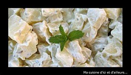 Recette de salade de pommes de terre, menthe et persil