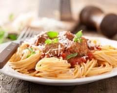 Recette spaghetti à la bolognaise et sauce tomate maison