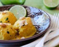 Recette curry de lotte au lait de coco, citron vert et noix de cajou
