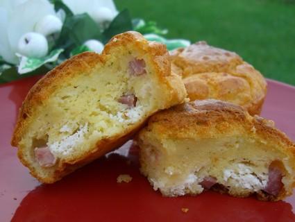 Recette de muffins jambon, chèvre et persil