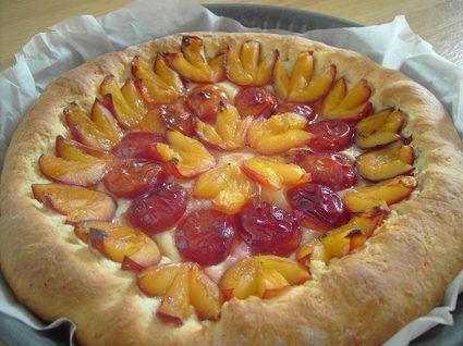 Recette de tarte briochée aux prunes facile