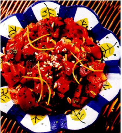 Recette de salade de poivrons à l'orientale