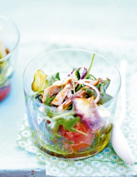 Légumes grillés et thon frais pour 6 personnes