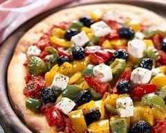 Recette pizzas aux poivrons et à la feta