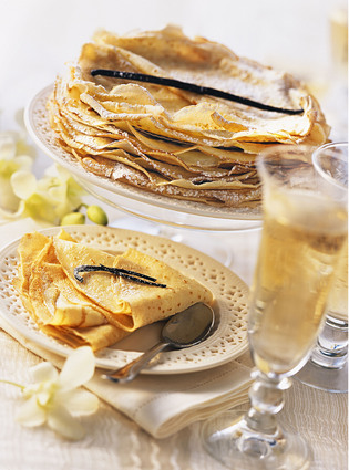Recette de crêpes légères arôme vanille