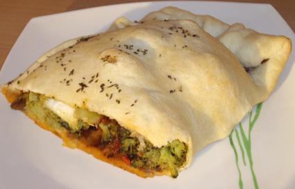 Recette de chausson express brocoli-ratatouille-mozzarella
