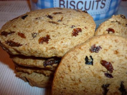Recette de cookies aux raisins secs et épices