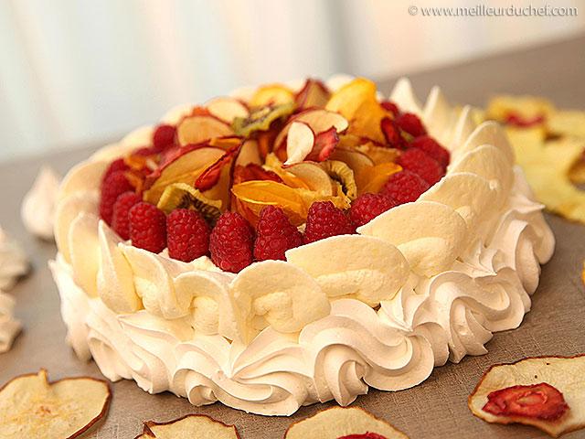 Pavlova aux fruits séchés  notre recette avec photos ...