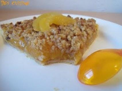Recette tarte crumble à l'abricot (tarte dessert)