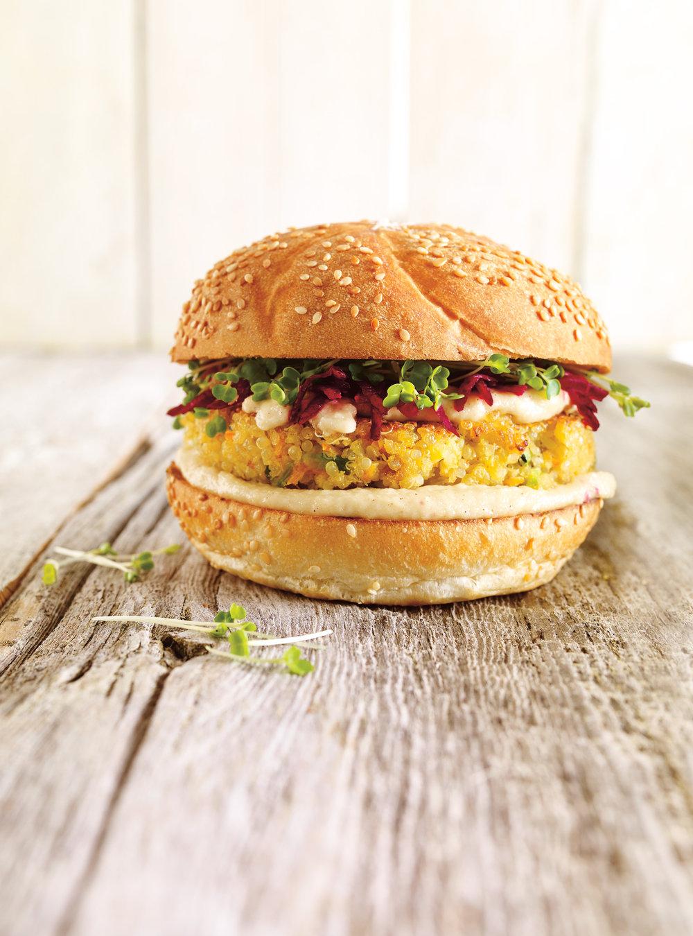 Végé burger au quinoa | ricardo