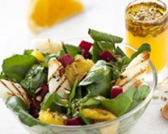 Recette salade d'halloumi et d'oranges aux graines de fenouil