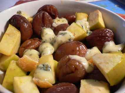 Recette de dinde aux marrons, pommes et fourme d'ambert