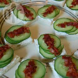 Recette canapés au concombre et prosciutto – toutes les recettes ...