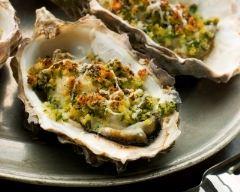 Recette huîtres chaudes aux herbes
