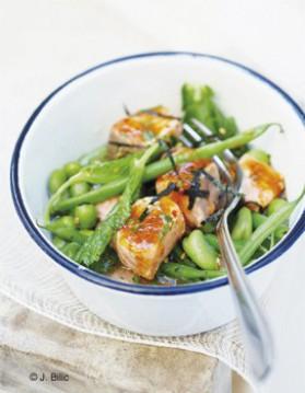 Saumon et légumes vapeur pour 6 personnes