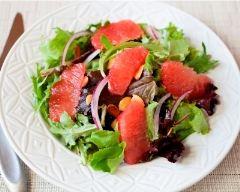 Salade de roquette et pamplemousse au vinaigre balsamique ...