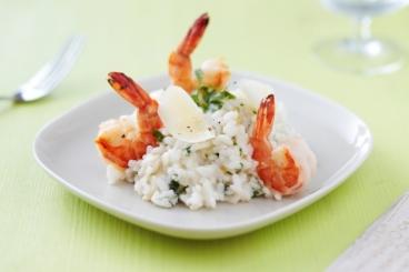 Recette de risotto au citron confit, lait de coco et gambas facile et ...
