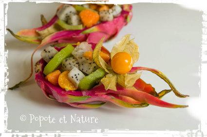 Recette de salade de fruits exotiques au fruit du dragon