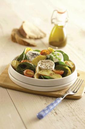Recette de salade de ratte du touquet et chèvre chaud