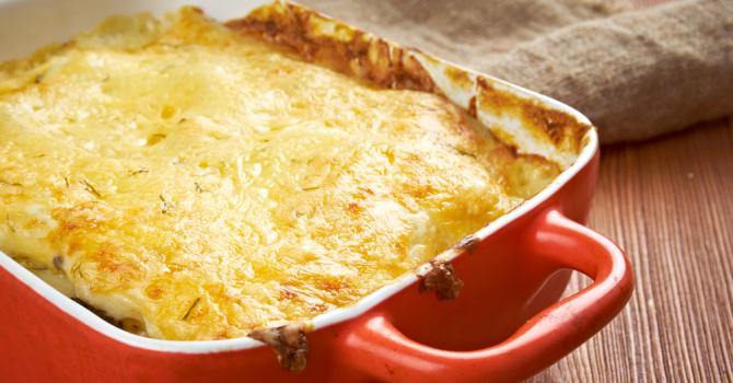Recette de lasagnes d'aubergines et légumes poêlés au four