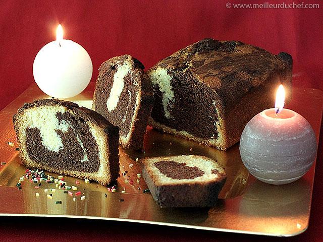 Gâteau marbré au chocolat  fiche recette avec photos ...