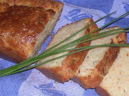 Recette de cake au surimi et à la ciboulette