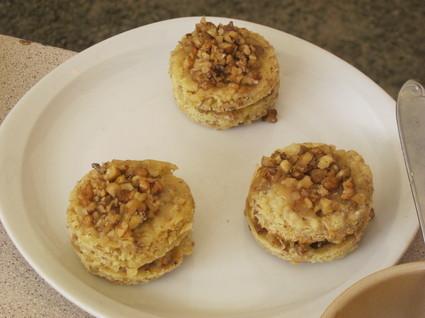Recette de cookies façon sandwich à la noix et au caramel