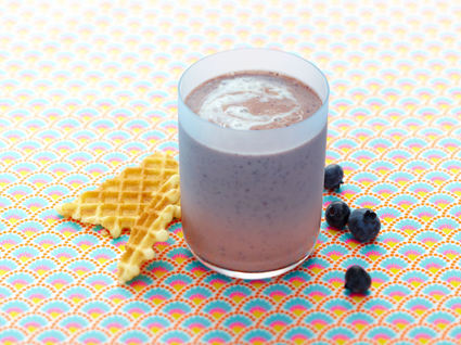 Recette de smoothie de lait ribot, myrtilles et vanille