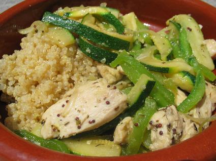 Recette de poulet sauté aux légumes et quinoa