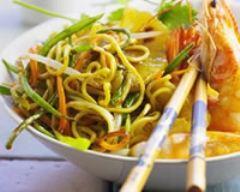 Recette wok de poulet aux crevettes et à l'ananas