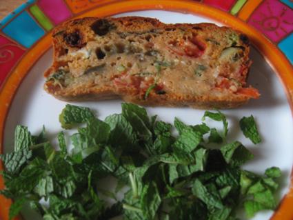 Recette de cake aux légumes et à la coriandre